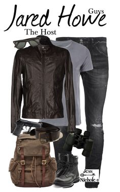 """The Host: Guys: Jared Howe"" by jess-nichole ❤ liked on Polyvore featuring Dsquared2, Majestic Filatures, Rick Owens, FOSSIL, Picnic at Ascot, Street Leathers, Ray-Ban, Hollister Co., Beretta and men's fashion"