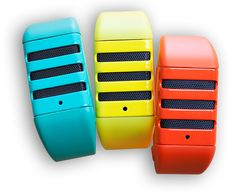 Interchangeable microphone Grill, Wristbands, and Klip accessory Customize - 6 available colors (Black, White, Seafoam, Hot Orange, Hard Yel...