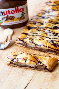 Nutella, Peanut Buter, and Banana Breakfast Braid | Two in the Kitchen