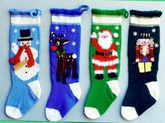 Pattern #1013  Knitted Christmas Stockings
