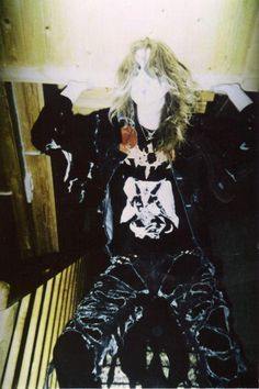 """Dead"" (born Per Ohlin in Sweden), vocalist for Norwegian black metal band Mayhem. RIP."