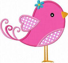 Valentinstag Bird Applique Machine Embroidery Deisgn NO: 0002 - Baby Fashion Applique Templates, Applique Patterns, Applique Designs, Quilt Patterns, Owl Templates, Bird Applique, Machine Embroidery Applique, Free Machine Embroidery Designs, Motifs D'appliques