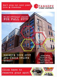 Student Apartment, Student House, Comfort Colors, Marketing Ideas, Property Management, Tshirt Colors, Slogan, Design, Muted Colors