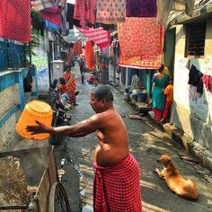 """Daily life in the back streets of #Kolkata #india"". Ed Kashi"