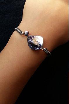 Sea breeze bracelet  https://www.etsy.com/listing/483418727/sea-breeze-bracelet-grey-and-purple-sea