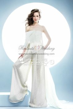 da1635d2c908 2017 New styal lace Strapless wedding bridal wide legs jumpsuit - Bridal  Apparel