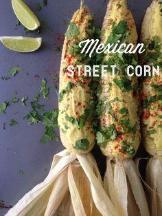 Mexican Street Corn w/ vegan nacho cashew cheese sauce