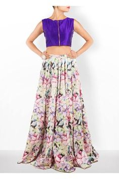 Floral Cotton Skirt Set    #carma #carmaonlineshop #style #fashion #designer #indianfashion #indiandesigner #ankitajuneja #gown #couture #shopnow #indianwear #pretty #girly #onlineshopping #instashop #beautiful #outfitpost #ootd #ootn #partywear #eveningwear #whattowear #floral #cotton #skirt #set