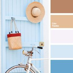 Gentle example of marine palette, because shades of blue and sand dominate in it. It looks very timely in summer.