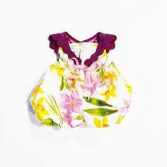 Image of Floral Linen Romper