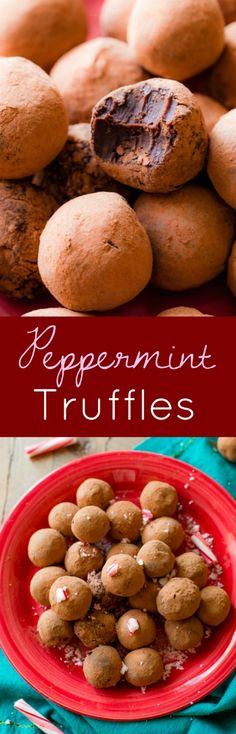 6 ingredients! These simple chocolate peppermint truffles are the ultimate holiday indulgence. Silky and creamy!