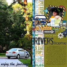 Layout by Jacki. Supplies: Are We There Yet? by Britt-ish Designs.