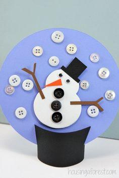 Winter Kids Craft ~ Paper Snow Globe