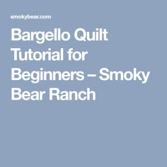 Bargello Quilt Tutorial for Beginners – Smoky Bear Ranch