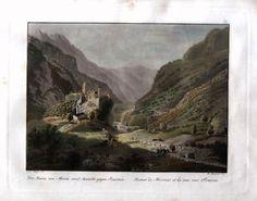 Stampa-antica-MESOCCO-SOAZZA-Grigioni-Meyer-1826-Old-Print-SPECIAL-PRICE