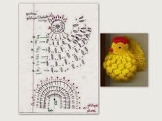 I want to share with you this video tutorial of how to make crochet easter chickens Crochet Diagram, Crochet Chart, Crochet Motif, Crochet Doilies, Crochet Flowers, Free Crochet, Christmas Crochet Patterns, Holiday Crochet, Crochet Gifts