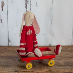 Medium Light Bunny Girl with Red Dress