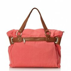 Co-Lab by Christopher Kon Women's Codie Canvas Tote (Coral)