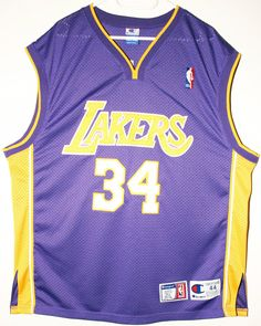 Champion NBA Basketball Los Angeles Lakers #34 Shaquille O'Neal Authentic Trikot/Jersey Size 44 - Größe L - 109,90€ #nba #basketball #trikot #jersey #ebay #sport #fitness #fanartikel #merchandise #usa #america #fashion #mode #collectable #memorabilia #allbigeverything