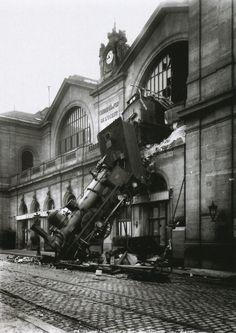 Trainwreck at Gare Montparnasse, Paris, 1895