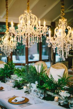 Chandeliers and Ferns...