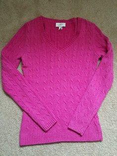 Women's Ann Taylor Loft sweater size XS extra small dark pink
