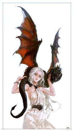 Daenerys Targaryen by woodendolphin
