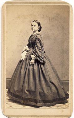 Beautiful Hoopskirt Dress CDV Early 1860s by MH Kimball Broadway NY City   eBay