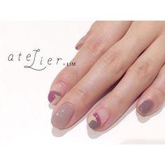 デザイン:西山 @nishiyama_nail . 《 シンプルに…》 . #atelierlim #nail #eyelash #LIM #西山#アトリエ #アトリエリム #リム #ショートネイル #ネイル #ジェルネイル #biiq #osaka#西山nail Manicures, Gel Nails, Negative Space Nails, Gel Nail Designs, Nail Inspo, Nailart, Girly, Make Up, Autumn