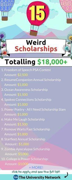 Weird & Creative Scholarships