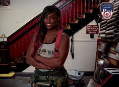 """Danae Mines became one of the few female firefighters in the New York Fire Department 11 years ago. This year, she broke down another barrier by becoming the first woman to be featured in the department's 2015 Calendar of Heroes. She had been told that the honor was reserved for men, but when she saw the open call for firefighters, she went. """"I wanted my picture in the calendar so that young girls and young women can see me and know that they can do this job,"""" she told @nydailynews."""