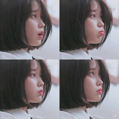 She is so sweet ☁️ Iu Short Hair, Short Hair Styles, Taeyeon Short Hair, Kpop Girl Groups, Kpop Girls, Korean Girl, Asian Girl, Iu Fashion, Korean Actresses