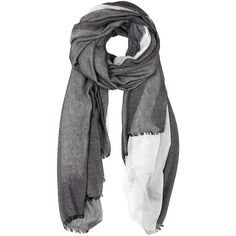 Furla Metropolis Black and White Scarf (810 ZAR) ❤ liked on Polyvore featuring accessories, scarves, black, furla, lightweight scarves, black and white scarves and black and white shawl