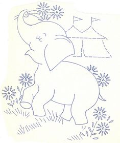 baby quilt animals 2 aa by love to sew Baby Embroidery, Hand Embroidery Patterns, Applique Patterns, Vintage Embroidery, Cross Stitch Embroidery, Machine Embroidery, Quilt Patterns, Embroidery Sampler, Paper Embroidery