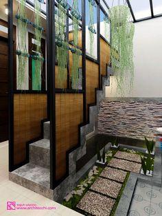 #Arsitek #DesainInterior #Tangga #Taman #Staircase #Garden #Architecchi