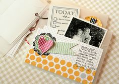 Homespun with Heart: Using journal cards to create pockets.