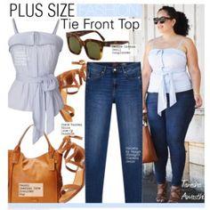 Plus Size Fashion- Tie Front Top