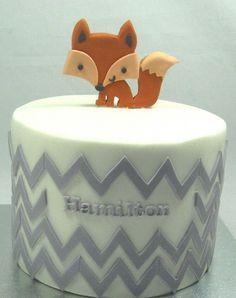 Fox cake and chevron!