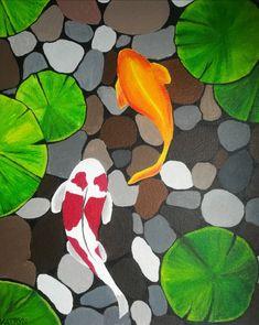 Diy Canvas Art, Arts And Crafts, My Arts, Backyard, Joy, Fish, Drawings, Painting, Dibujo