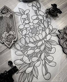 Unique Tattoos, Hand Tattoos, Sleeve Tattoos, Flower Tattoo Drawings, Tattoo Sketches, Floral Tattoo Design, Flower Tattoo Designs, Japanese Tattoo Art, Japanese Flower Tattoos
