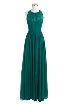 10 Stunning Dresses For Every Black-Tie Affair #refinery29 *sharing my name with a beautiful dress! J.Crew Megan Long Dress in Silk Chiffon, $365