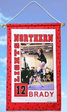 Personalized Volleyball Banner - Celebrate that big game, give notice to that MVP on your team, or honor a graduate with our personalized banner. T | Midwest Volleyball Warehouse