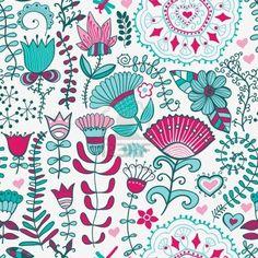 Patrón floral sin fisuras, la textura infinita de flores. Vector de antecedentes para el diseño textil. Foto de archivo