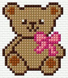Baby Sleeping Bag For Stroller:Button Kn - Diy Crafts - Marecipe Baby Cross Stitch Patterns, Cross Stitch Baby, Cross Stitch Animals, Cross Stitch Kits, Cross Stitch Designs, Cross Stitch Bookmarks, Cross Stitch Cards, Cross Stitching, Cross Stitch Embroidery