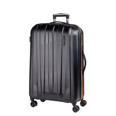 Mittelgroßer #Reisekoffer March15 Rocky bei Koffermarkt: ✓robuste Hartschale ✓4 Rollen ✓TSA-Schloss ✓schwarz mit orangenem Reißverschluss  ⇒Jetzt kaufen