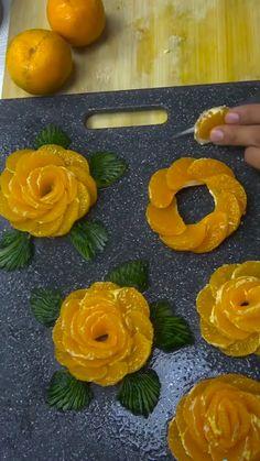 Ideas Fruit Platter Designs Presentation Beautiful For 2019 Food Crafts, Diy Food, Food Design, Fruits Decoration, Vegetable Decoration, Salad Decoration Ideas, Cute Food, Yummy Food, Creative Food Art