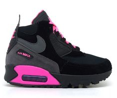 5223cfeaa39 Comprar Tênis Feminino Nike Air Max 90 Cano Médio Preto e Rosa online e  barato