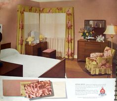This book is from 1941 and shows exteriors and interiors of homes with attractive color schemes.
