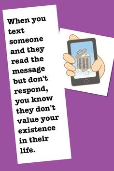 This is so true. Just like when people our on Facebook or Pinterest, but don't have time to respond to a simple text. Funny !