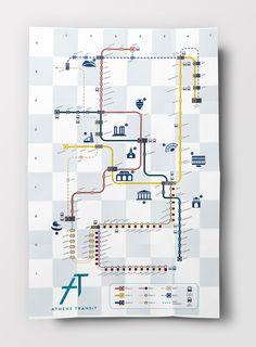 Athens Transit System on Behance